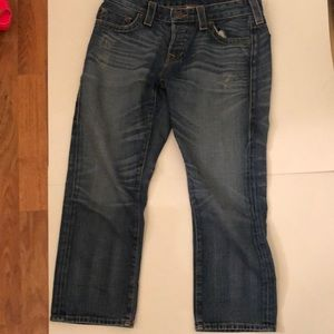True religion cropped jeans 28